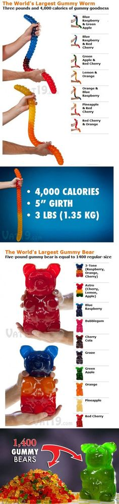 Huge gummy worm/bear
