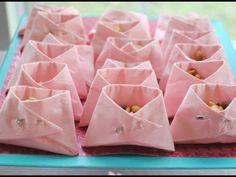Baby Shower idea...serviettes folded like nappies...nibbles or lollies...cute