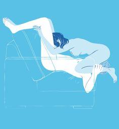 Positions de sexe oral : le 69 version canapé