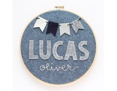 personalized embroidery hoop art at blue without you kids | baby shower gift guide