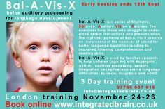Bal-A-Vis-X helps auditory processing for language development