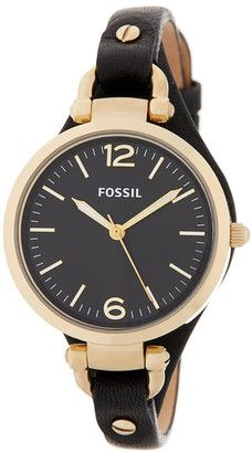 Fossil Women's Georgia Leather Strap Watch #watches #womens