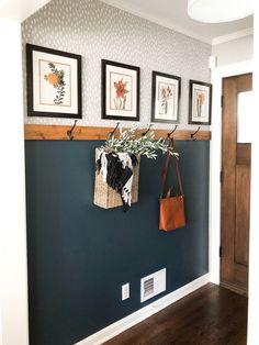 Fall Entryway, Entryway Decor, Bedroom Decor, Entryway Ideas, Hallway Ideas, Ikea Hallway, Ikea Bedroom, Entryway Bench, Gray Hallway