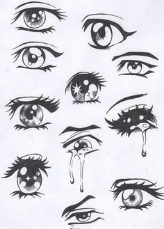 Easy Anime Eyes To Draw Girl Anime Hair | Drawling Visuals ...