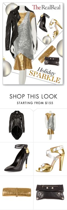 """Holiday Sparkle With The RealReal: Contest Entry"" by ambervogue ❤ liked on Polyvore featuring Yves Saint Laurent, Chanel, Tom Ford, Pierre Hardy, Rochas and Balenciaga"