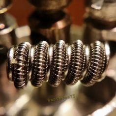 """24g #anarchistwire double clapton wrapped in 36g parallel with 22g…"