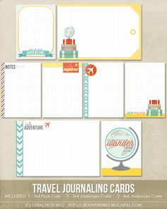 travel journaling cards by in a creative bubble