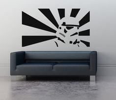 Wall Art sticker transfer bedroom,lounge,storm trooper ...
