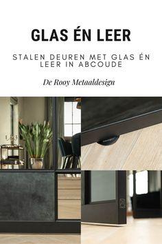 Stalen deuren inspiratie! Bekijk deze prachtige stalen deuren met glas én leer op onze website. Flat Screen, Shelves, Website, Home Decor, Blood Plasma, Shelving, Homemade Home Decor, Shelf, Open Shelving