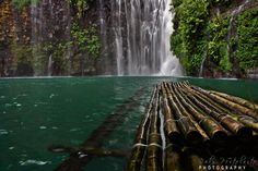 Tinago Falls, Phillipines This waterfall in Iligan City actually takes 500 descending steps to get to. Under the falls is a small cave tourists are allowed to venture into.