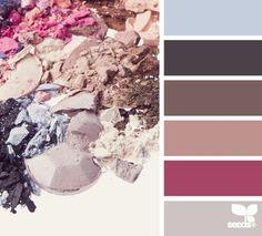Powdered tones palette