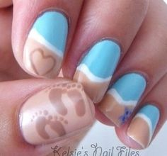 Beach nails :)