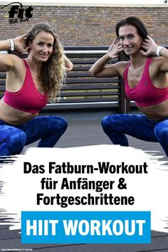 This HIIT workout will make you sweat and burn calories properly. Train live with our fitness experts Anna-Lena and Nicole at home. The HIIT workout is ideal for beginners, but also advanced ones will Fitness Workouts, Fitness Motivation, Tips Fitness, Zumba Fitness, Cardio Workouts, Yoga, Transformation Fitness, Workouts Without Equipment, Hiit Workouts For Beginners
