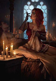 Witcher Art, The Witcher 3, Fantasy Women, Dark Fantasy, Fantasy Inspiration, Character Inspiration, Fantasy Characters, Female Characters, Dnd Characters