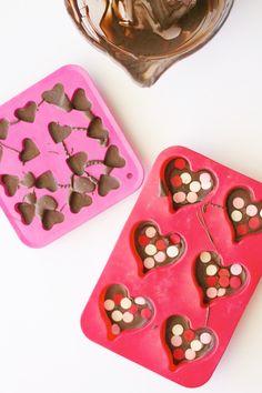 Valentines Day Treats...Chocolate Hearts made easy...