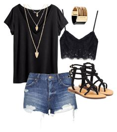 """""""Untitled #19"""" by sydney-alexis-spradley on Polyvore featuring H&M, Topshop, Mystique, Forever 21 and Michael Kors"""