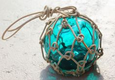 Beach Decor Emerald Fishing Float Vintage Style by by SEASTYLE