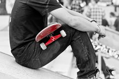 Skateboarding Black and White with Red all over by Louish Pixel American Fork, Black White Red, Sign I, Skinny, Skateboarding, Inspiration, Lacrosse, Soccer, Snowboarding