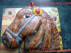 Carved 2D horse head cake tutorial