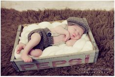 Baby Diaper Cover With Suspenders And Newsboy Hat Set - Crochet Newborn…