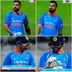 Virat Kohli celebrating he's 100* against South Africa. 1st ODI 2018.