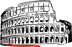 Drawings of ancient Rome. Pictures of old Rome, senate, building, soldier for coloring. Summer Courses, Italy Holidays, Facts For Kids, World Languages, Italian Language, Ancient Architecture, How To Make Pillows, Ancient Rome, Roman Empire