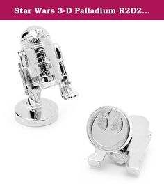 Star Wars 3-D Palladium R2D2 Cufflinks Novelty 1 x 1in. N0-Risk Guarantee! If for any reason you are not satisfied with your purchase, simply return them for a full Money Back Guarantee!.