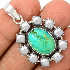 Sleeping Beauty Turquoise 925 Sterling Silver Pendant Jewelry SP199692 | eBay
