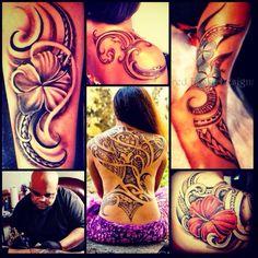 Some Girl ones. #polynesian #tattoo