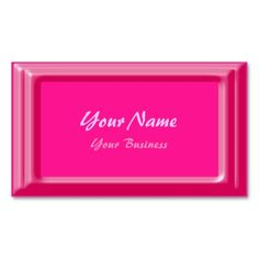 Minimalist Hot Pink Business Cards