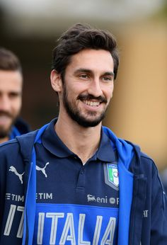 Davide Astori of Italy looks on during the training session at the club's training ground at Coverciano on November 10, 2016 in Florence, Italy.