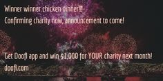 Stay tuned - we will be announcing name and charity that gets the $1,000 donation soon!