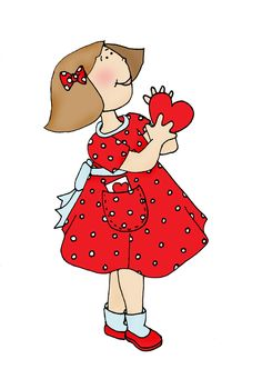 Free Dearie Dolls Digi Stamps: Be My Valentine Girl