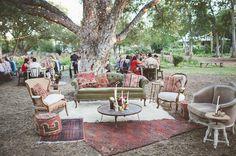 Outdoor lounge room