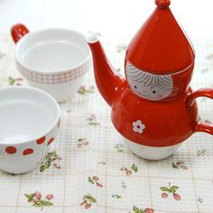 Cute Tea For Two!  Little Red Riding Hood theme from Shinzi Katoh Collection from Japan