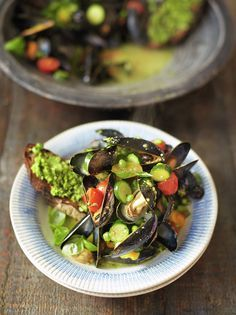 Pesto Mussels & Toast | Jamie Oliver | Family Super Food