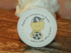 Lil' Sport Soccer - Personalized Whipped Body Butter Baby Shower Favors
