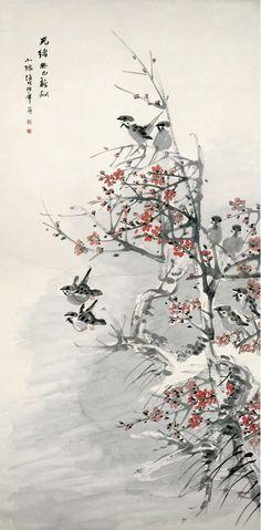 Ren Bonian(任伯年) ,   梅雀图