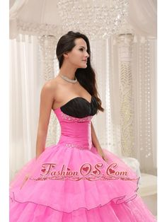 Rose Pink Sweetheart Beaded and Layers Ball Gown Quinceanera Dress Taffeta and Organza  www.fashionos.com  beautiful quinceanera dress online | beaded quinceanera dress with applique | quinceanera gown for cheap | simple pretty quinceaner dress | best quinceanera dress for your sweet sixteen | lace up quinceaner dress | quinceanera dress in all size | sweetheart quinceanera gown | cute quinceanera gown | taffeta quinceanera dress with appliques | quinceanera dress 2012