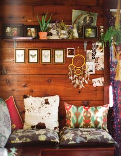 {cabin walls} smorgasbord of patterns, textures and objects