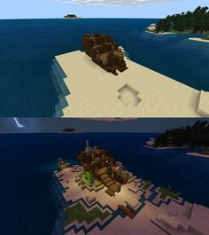 Found this ship just chillin on the coast so i made a cosy house from it. What a… - Everything About Minecraft Minecraft Ships, Minecraft Redstone, Minecraft Medieval, Minecraft Plans, Minecraft Tutorial, Minecraft Blueprints, Cool Minecraft Houses, How To Play Minecraft, Minecraft Buildings