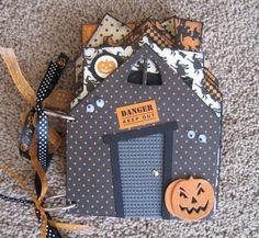 Halloween Chipboard Mini Album Haunted House by TwoCraftyCreations