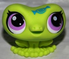 LITTLEST PET SHOP LIME GREEN FROG #3322 CANDYSWIRL BLIND BAG Purple Eyes NEW