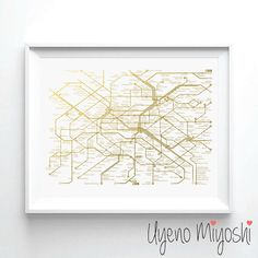 Hey, I found this really awesome Etsy listing at https://www.etsy.com/listing/227923575/paris-metro-map-i-gold-foil-print-gold