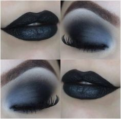 Black makeup tutorial with Black Swan Black Eyeshadow Black makeup Swan black tutorial In theory, Eye Makeup Tips, Makeup Goals, Makeup Inspo, Makeup Art, Makeup Inspiration, Goth Eye Makeup, Makeup Style, Skin Makeup, Makeup Ideas