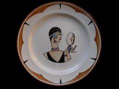 Art deco ceramic plate Exposition Universelle Paris 1937 Pierre DEUX