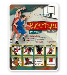 Spielplatzschild Basketball 8P - PB aus unserer beliebten Spielplatzschilderserie PB nach EU-Norm DIN EN 1176:2008-08 – mit freier Piktogrammwahl und UV/Antigraffiti-Schutzlackierung. #Basketball