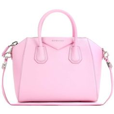 Givenchy Antigona Small Leather Tote ($2,615) ❤ liked on Polyvore featuring bags, handbags, tote bags, pink, givenchy tote bag, leather tote, pink leather handbags, leather tote handbags and tote purses