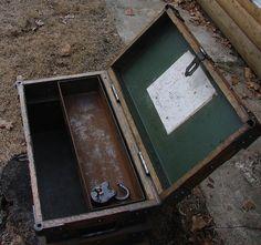 des années 1800 railroad Gold Bullion Strong Box que je peux