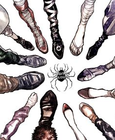 You know the phantom troupe too well when you can say who each feet belong to